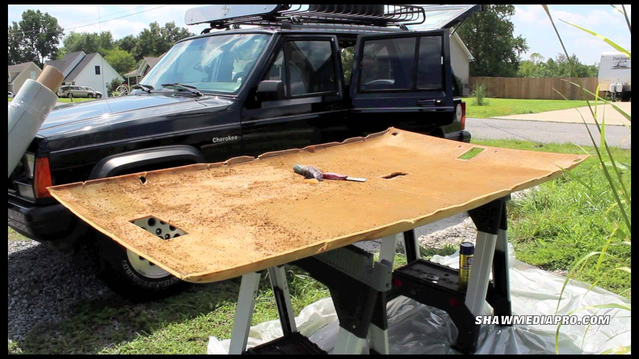 Jeep Cherokee XJ Headliner install - YouTube