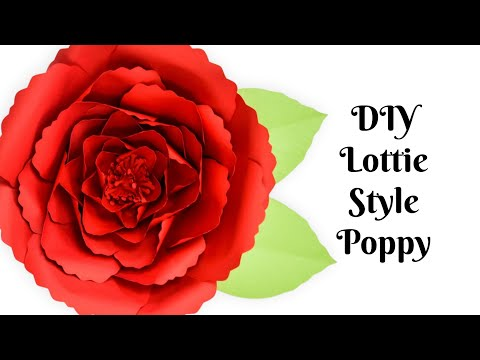 Giant Poppy Paper Flower Tutorial: How to Make Paper Flowers