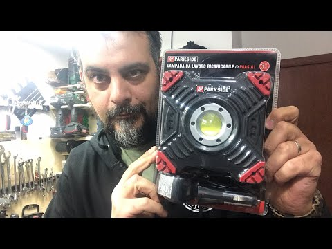 Parkside rechargeable work lamp. Lidl. PAAS A1. Powerbank. Anti-impact LED headlight. USB € 29.99