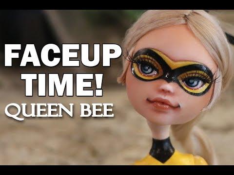 Faceup Time! Miraculous Ladybug Queen Bee OOAK