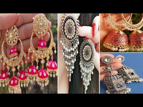 Trendy Fancy Jhumka collection //So Beautiful stylish Earrings Design image //Big Earrings💕