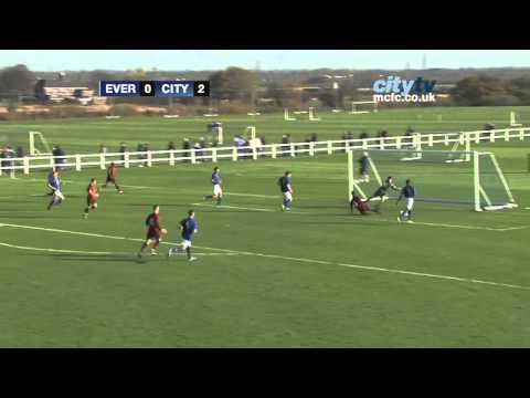 HIGHLIGHTS  Everton U18s v City U18s in the Barclays Premier Academy League.