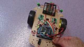Arduino buggy with bump sensors and speed sensors.