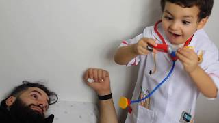 funny kids pretend play with doctor toys for children