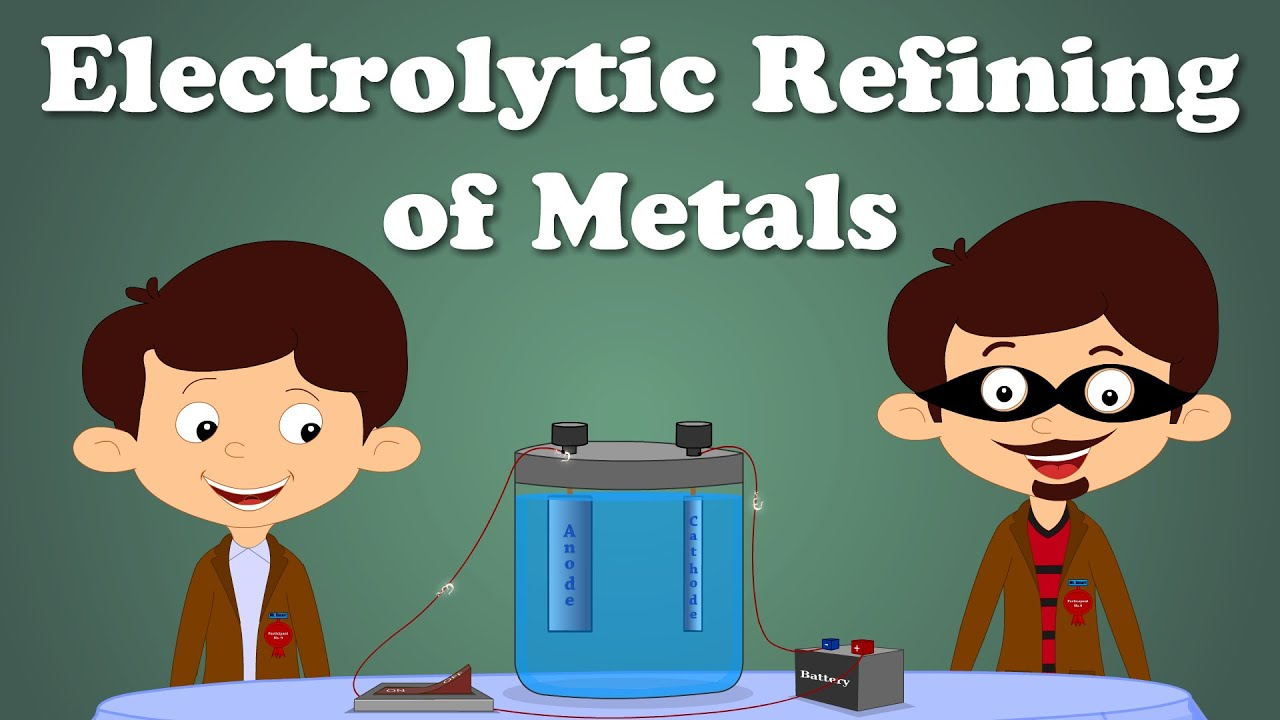 Electrolytic Refining Of Metals Aumsum Kids Education Science