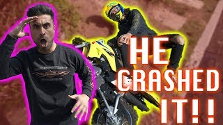 DIRT BIKE CRASH ***INJURED***