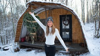 Single Mother Builds Scandinavian Inspired Tiny House To Escape // Tiny House Tour