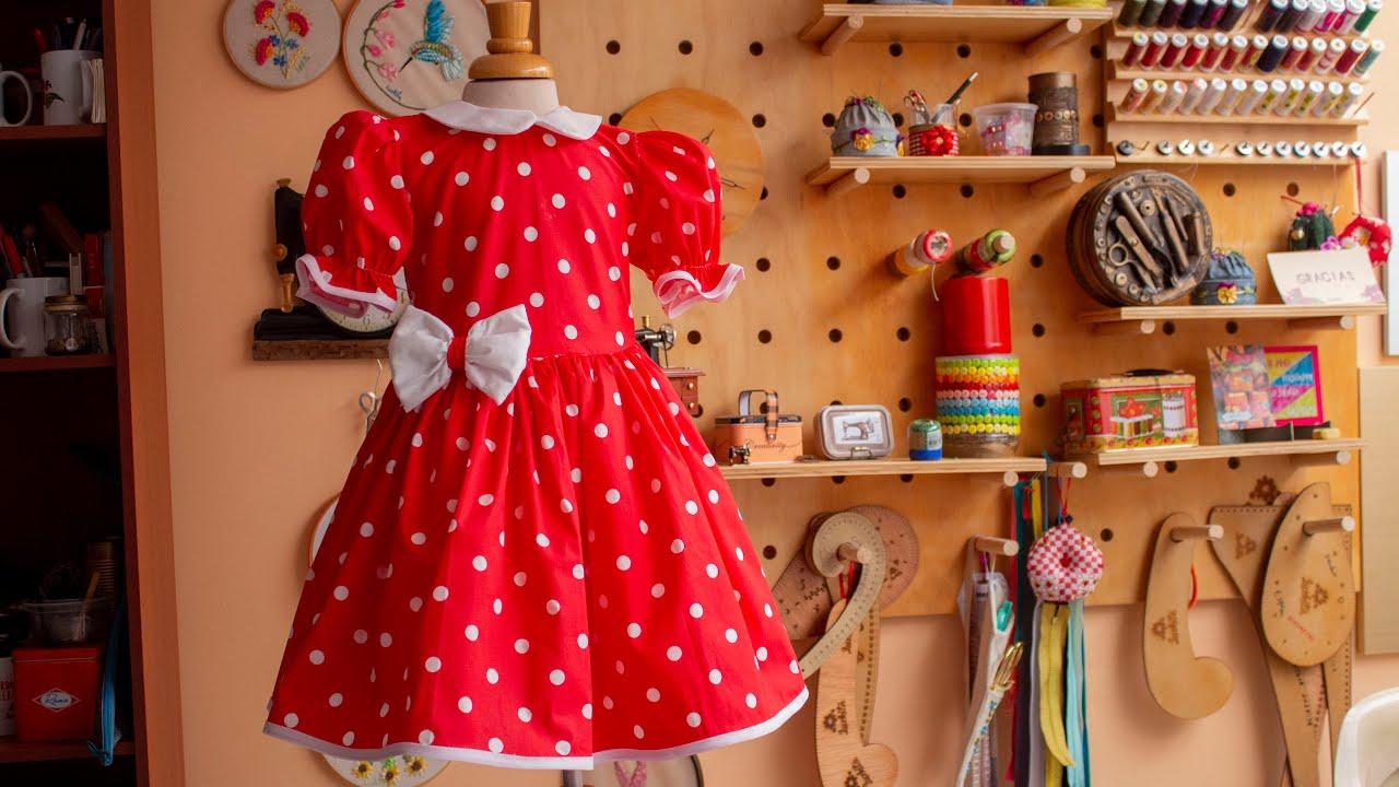Hermoso vestido para niña: cómo hacerlo paso a paso con Luzkita/Vestido de MINNIE MOUSE