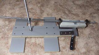 Супер новая точилка для ножей своими руками Точим ножи дома DIY(Как изготовить смастерить самодельный станок установку приспособу для заточки ножей в домашних условиях..., 2014-10-27T20:39:07.000Z)