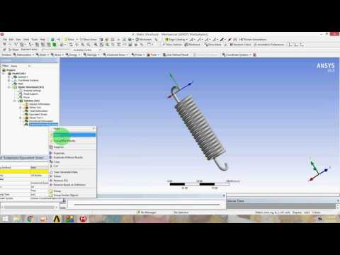 Ansys Workbench Spring analysis