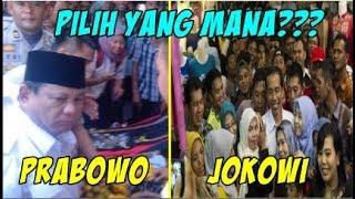Beda  Blusukan Jokowi dan Prabowo di Pasar,  Ada Yang Tidak betah berlama-lama di Pasar