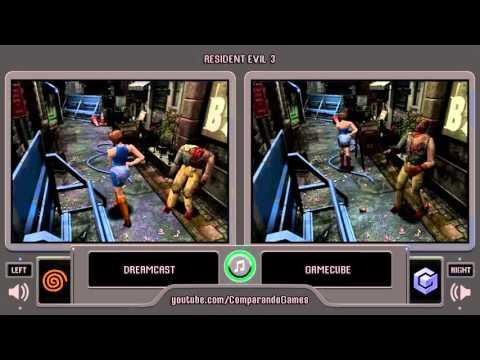 Resident Evil 3 Nemesis (Dreamcast vs Gamecube) Side by Side Comparison (Bio Hazard 3 Last Escape)