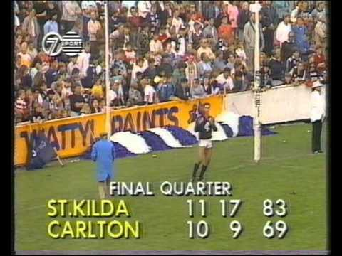 St Kilda vs Carlton Rd 2 1989