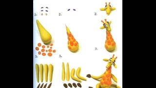Развивающее видео для детей. Наташа и пластилин. Лепка из пластилина. Лепим жирафа.