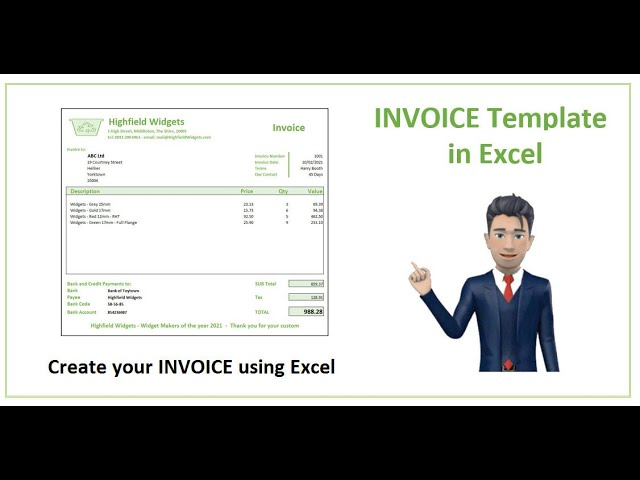 How To Create An Invoice In Excel Spreadsheet Template For 2021 Youtube