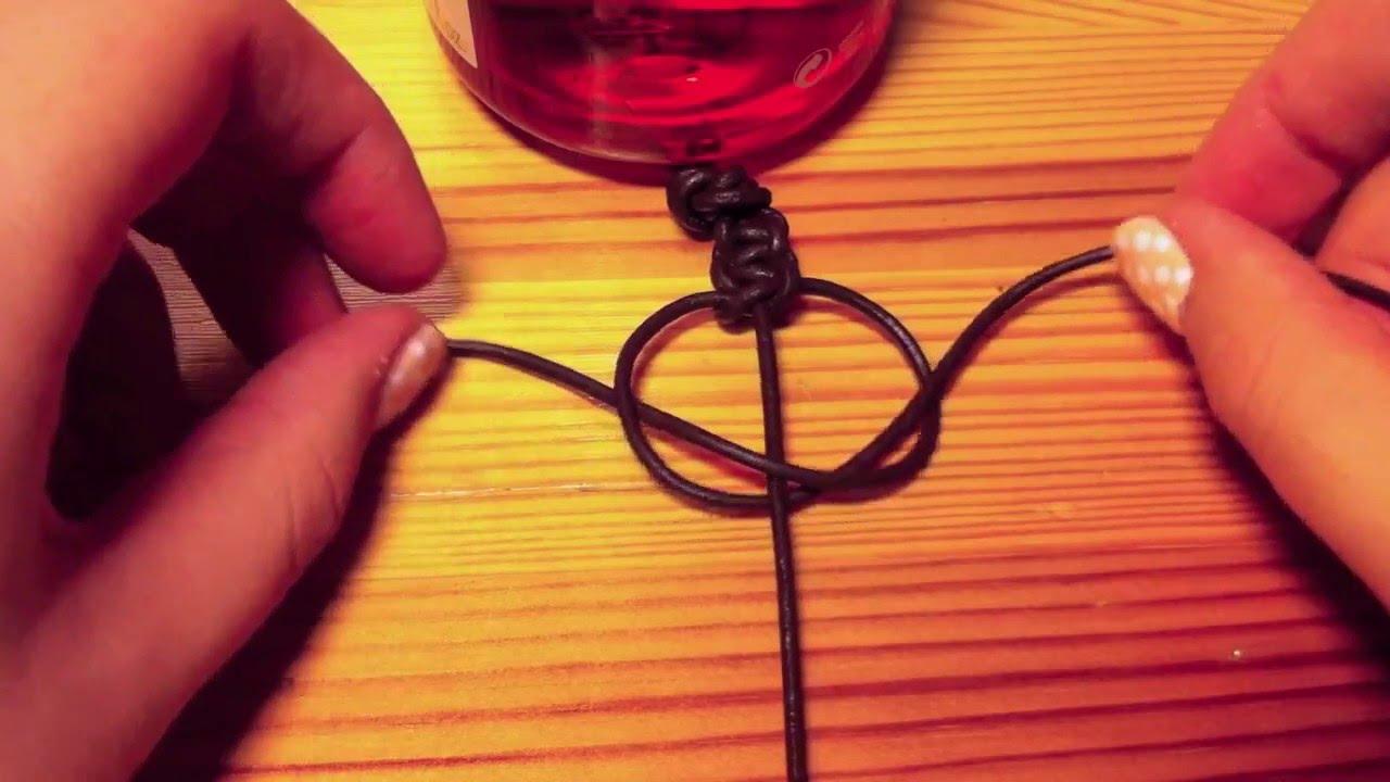 Lederarmband flechten  DIY geknüpftes Leder-Armband - YouTube