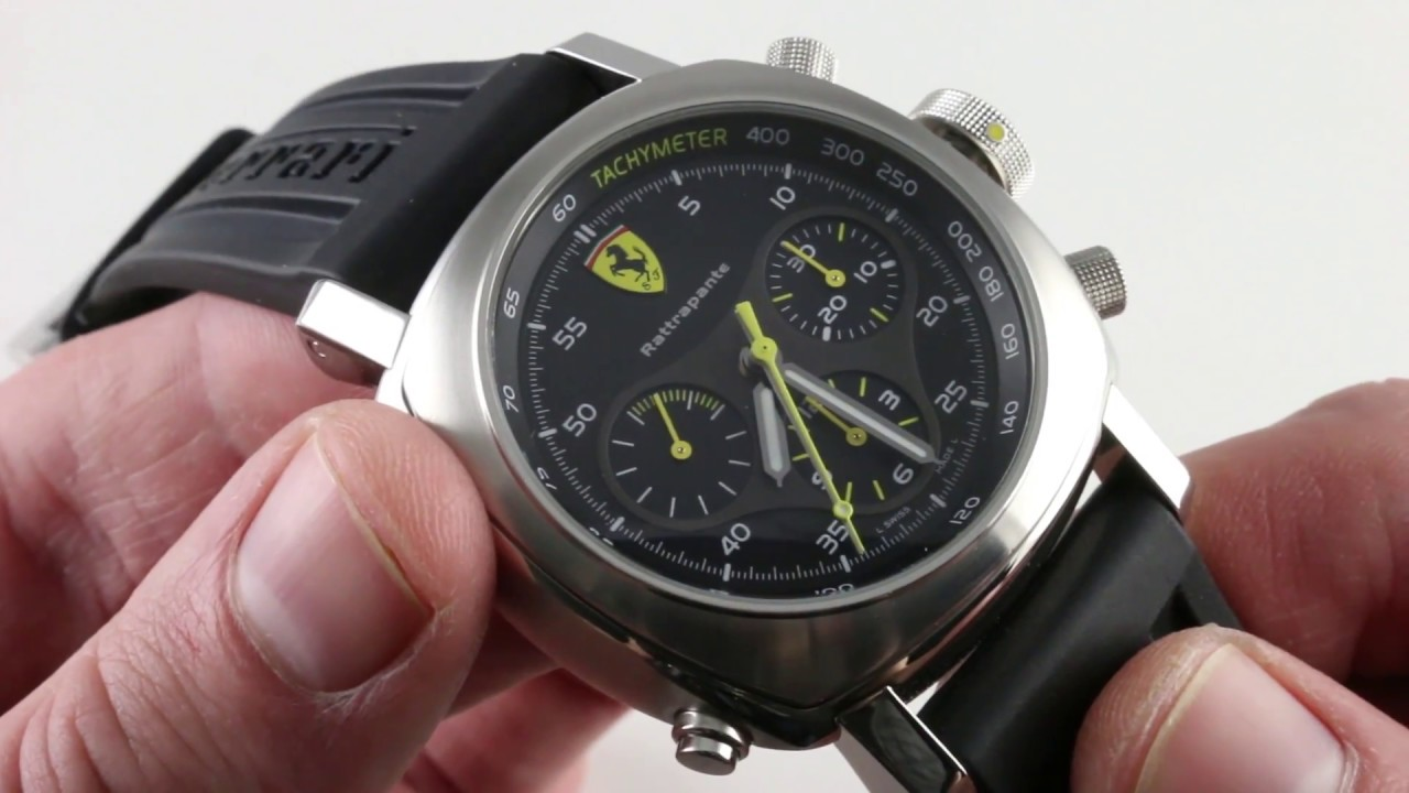 Panerai Ferrari Scuderia Rattrapante Fer010 Luxury Watch Review Youtube