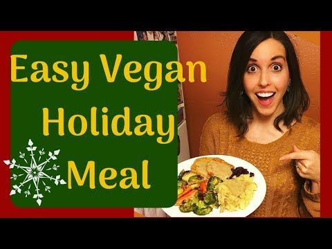 Easy Vegan Holiday Meal | Thanksgiving Cook With Me