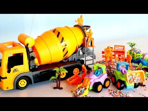 รีวิวของเล่น รถปูน รถโม่ปูน บังคับวิทยุ - วีดีโอสำหรับเด็ก