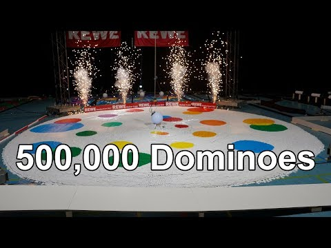 Domino World Record Show - 500,000 Dominoes - World of Art