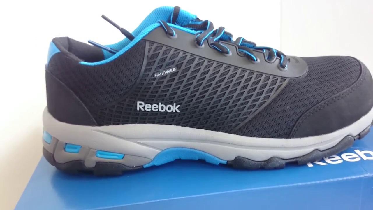 REEBOK Aican Nanoweb - pracovná obuv S1P - YouTube 37b43006288