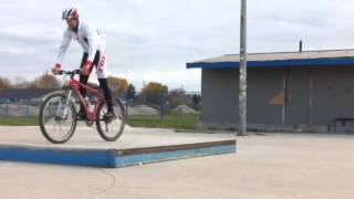 Log Hop Progressions on Ledge - Ep 42 - Bike Skills Project