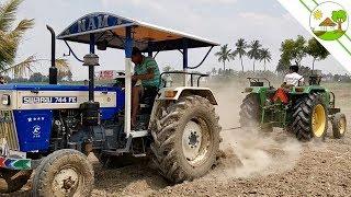 Tractor Racing Videos - Swaraj 744 FE  vs John Deere 5030 Tractor videos - Come To Village