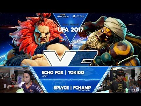 SFV: FOX Tokido vs SPLYCE FChamp - UFA 2017 Top 8 - CPT 2017
