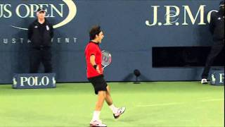 Roger Federer - Tweener - US Open 2009 HD