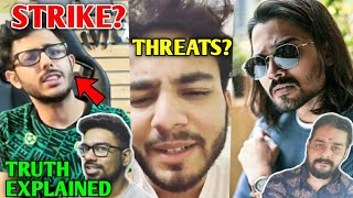 CarryMinati Gave Strike To YouTuber? - His Reaction | Elvish Yadav Gets Threats, BB, Hindustani Bhau