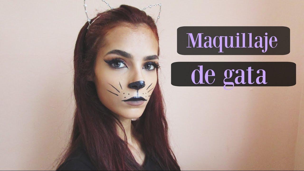 21fea9917 Maquillaje de gata para Halloween   Celhelíz - YouTube