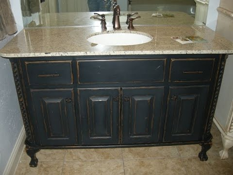 chalk paint bathroom cabinets - youtube
