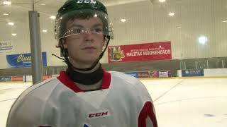 Ethan Phillips attends Mooseheads camp