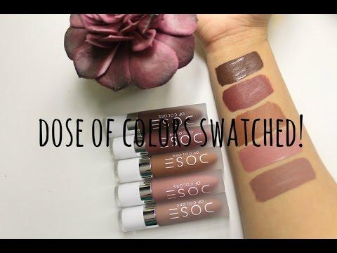 Dose Of Colors Lip Swatches  Jdguzmnmua