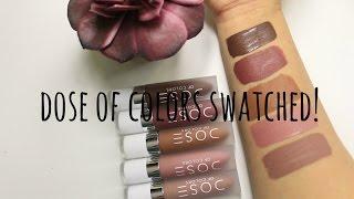 Dose Of Colors Lip Swatches | Jdguzmnmua