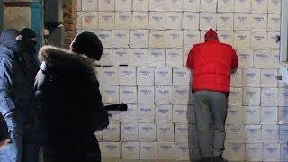 Обыск на складе с палёным алкоголем