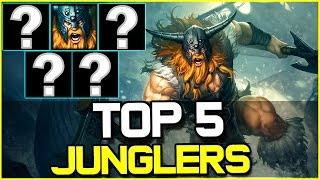 TOP 5 BEST JUNGLERS - Patch 6.19 | League of Legends