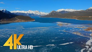Bird's Eye View oḟ CANADA in 4K - Incredible Wintertime - Aerial Film with Ambient Music