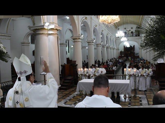 Santa Eucaristía Institución de Ministros Lectores, Acólitos, Profesión Fe, e Incardinación