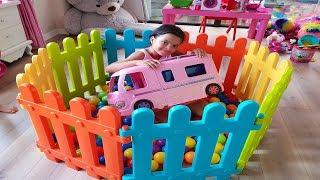 Masal Dream Camper Shopping Pretend Play fun kid video, Funny kids