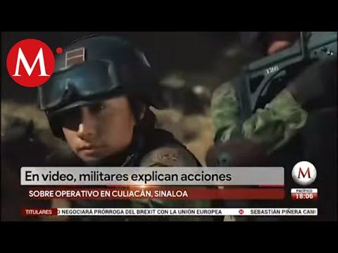 Culiacán En Video Militares Explican Acciones De Operativo