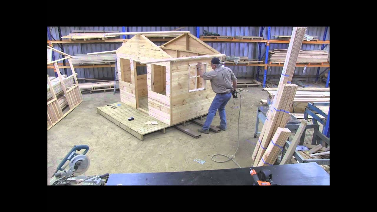 How to build a cubby house windows pt 7 youtube for Plans to build a house