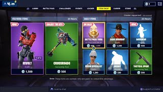 *NUEVO* REVOLT & REBEL Skins, OVERDRIVE Emote - 24 de febrero Fortnite Daily Item Shop LIVE