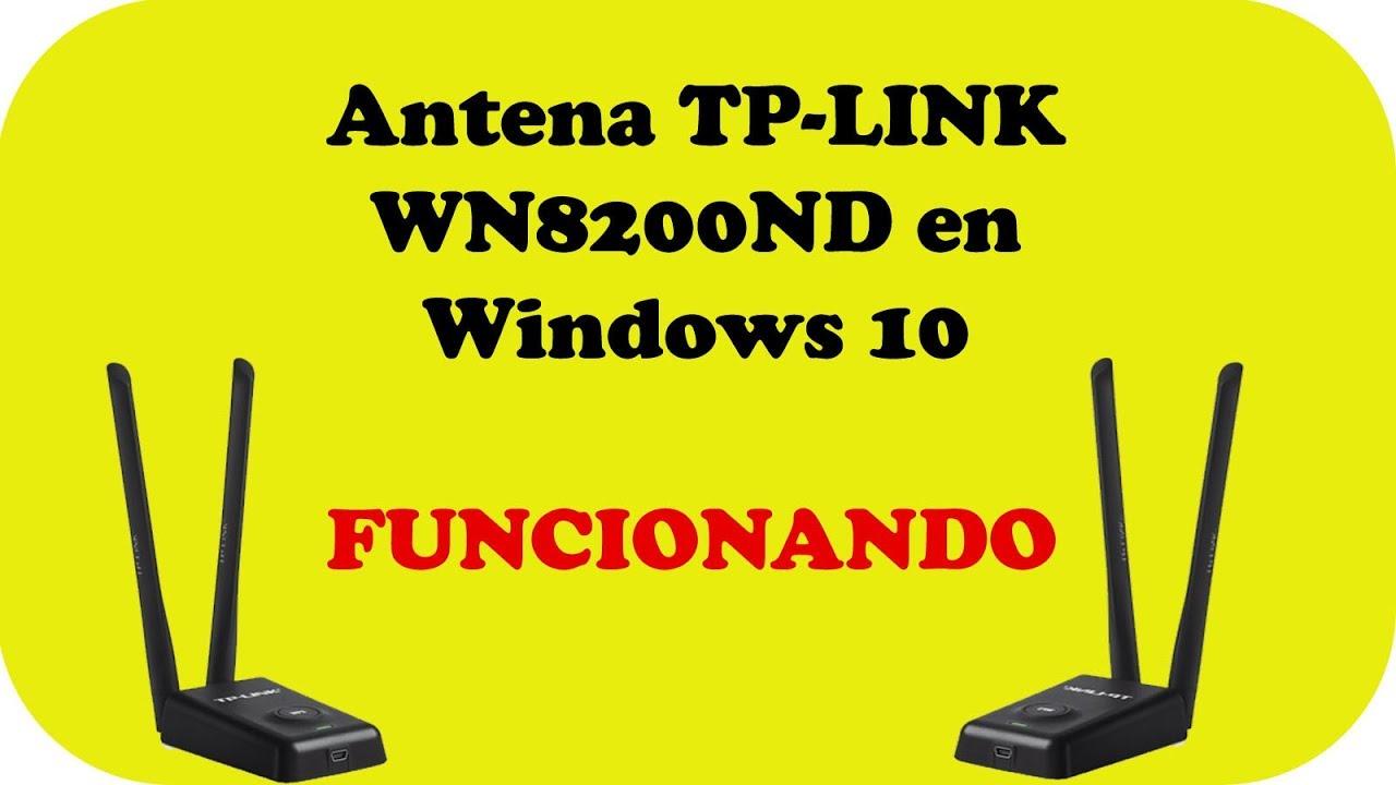 Antena TP LINK TL-WN8200ND funcionando en Windows 10 - YouTube