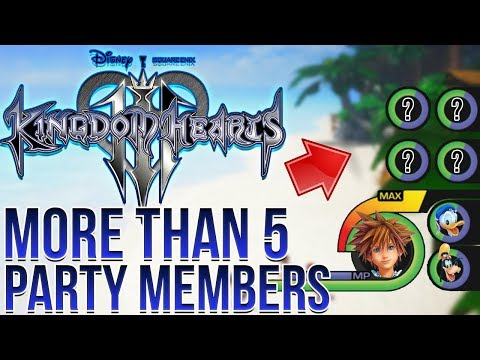 Kingdom Hearts 3 - MORE THAN 5 PARTY MEMBERS AT ONE TIME?!