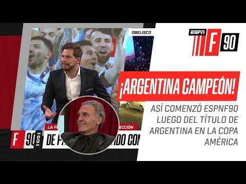 ¡La REACCIÓN del Pollo #Vignolo y el equipo de #ESPNF90 tras el título de #Argentina!