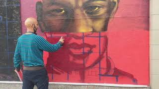 Scotty Brave Paints Marcus Rashford Glitch Streetart