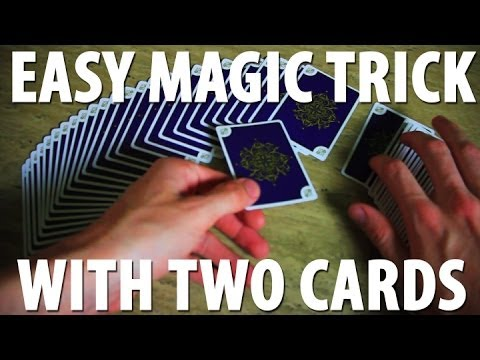 Easy Magic Trick with Two Cards - TUTORIAL - YouTube