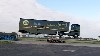 Epic World-Record Truck Jump by EMC and Lotus F1 Team #RedefineRecords