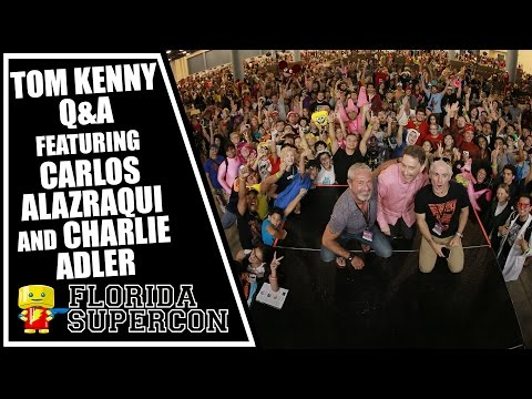 Tom Kenny Q&A Featuring Carlos Alazraqui and Charlie Adler at Florida Supercon 2015
